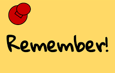 a tacked yellow note with the word Remember