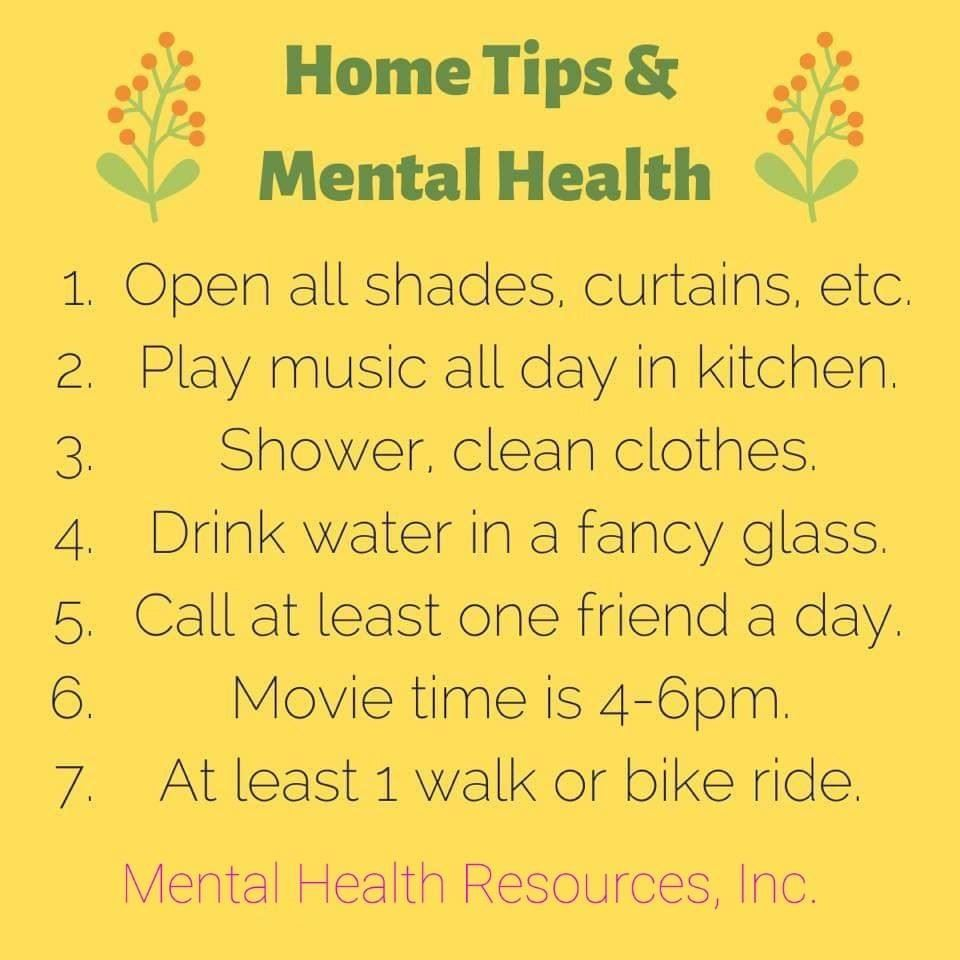 Home Tips and Mental Health