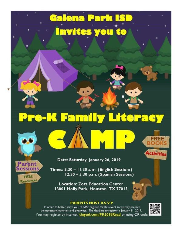 Pre-Kinder Literacy Camp- January 26th