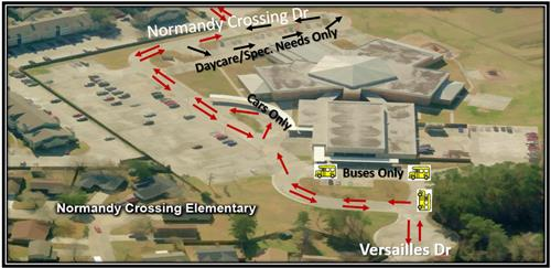 Normandy Crossing Elementary Traffic Flow Map