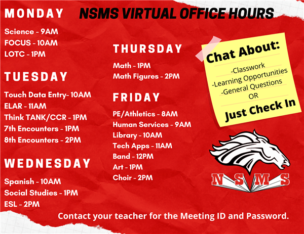 NSMS Virtual Office Hours