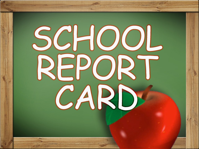 School Report Card Graphic - Chalkboard with Apple