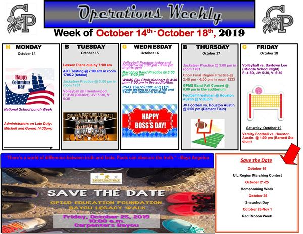 Operations Weekly