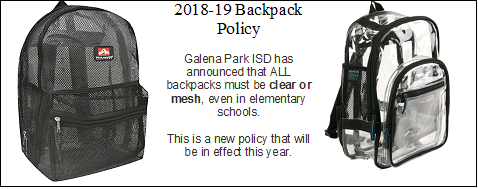 Backpack Policy