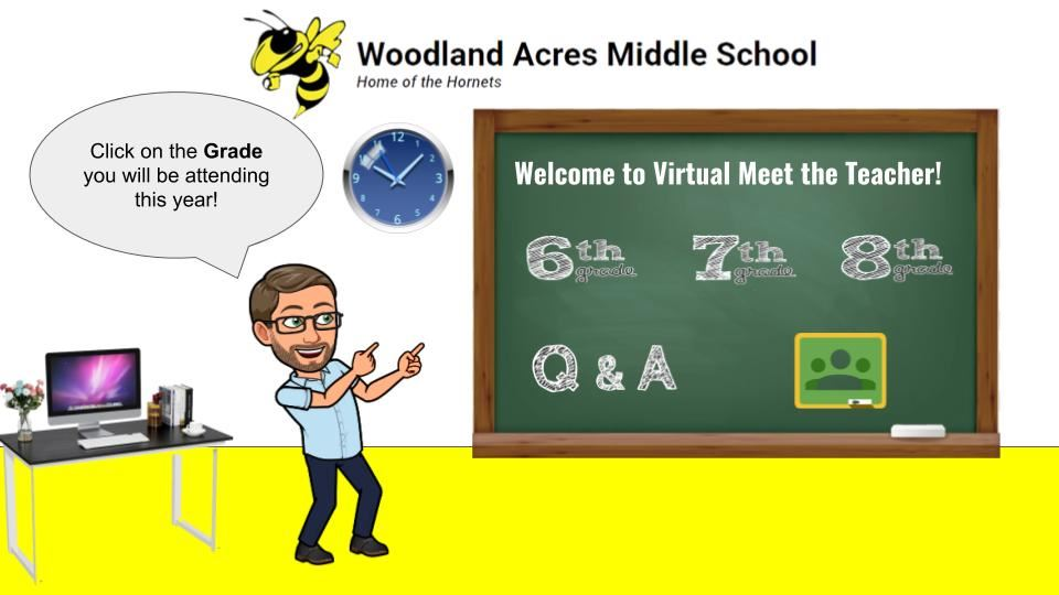 Woodland Acres Middle Virtual Meet the Teacher, September 3, 2020