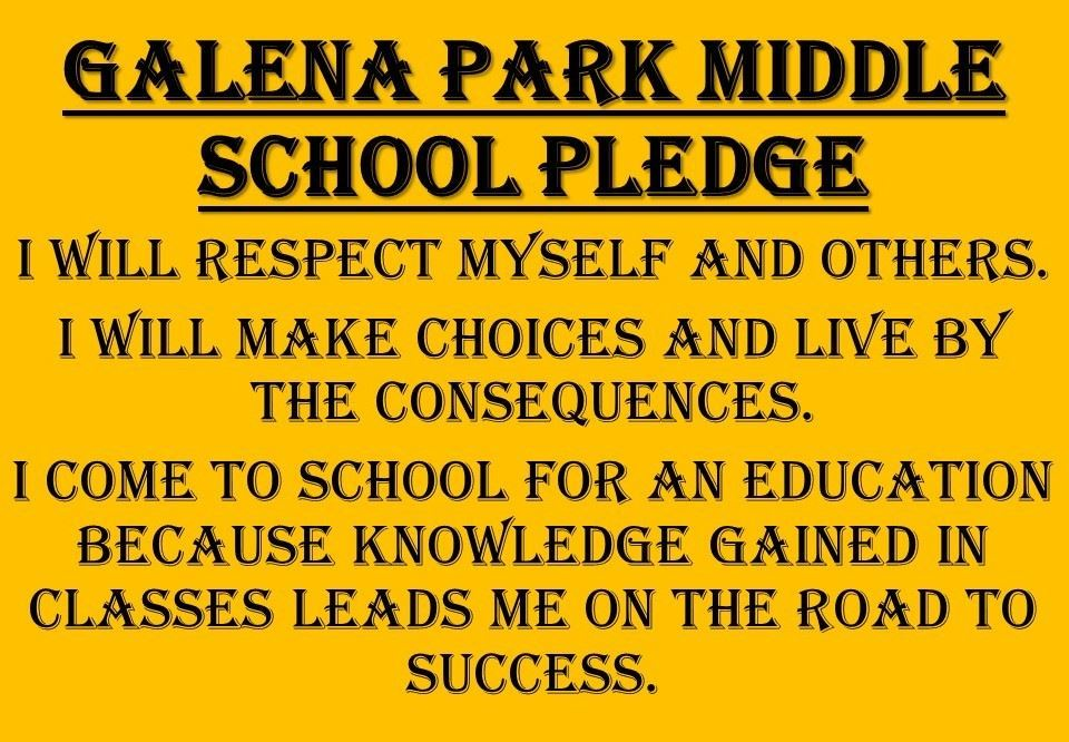 GPMS Student Pledge