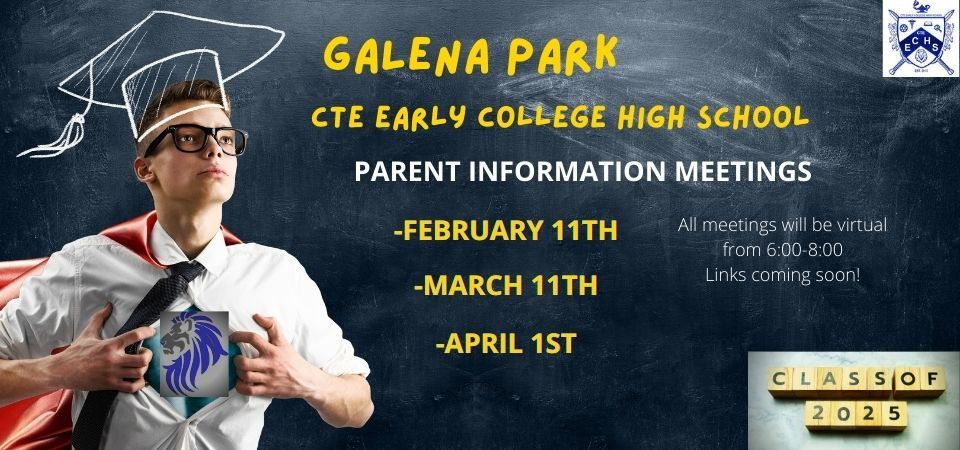 Parent Meeting dates for 8th grade Recruitment
