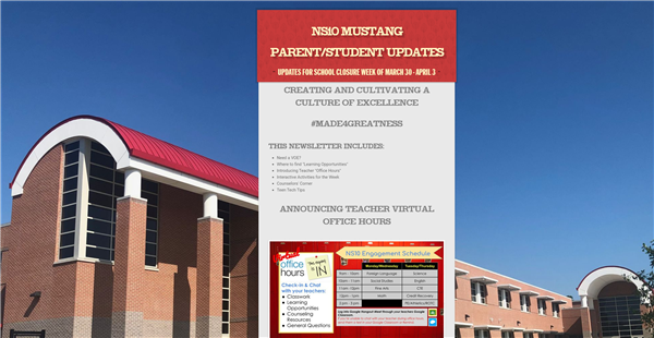 NS10 Weekly Student/Parent Newsletter