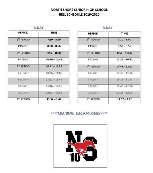Schedules / 2018-2019 Bell Schedule