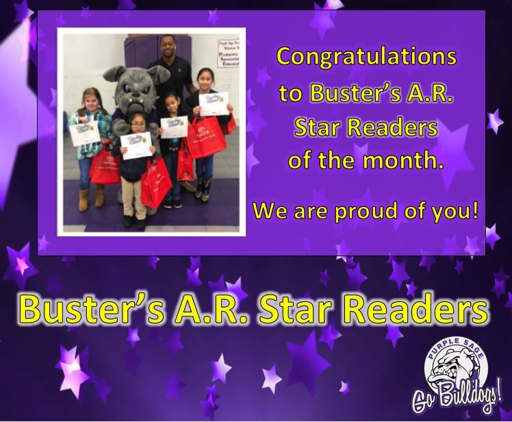 Buster's A.R. Star Bulldogs of the Month