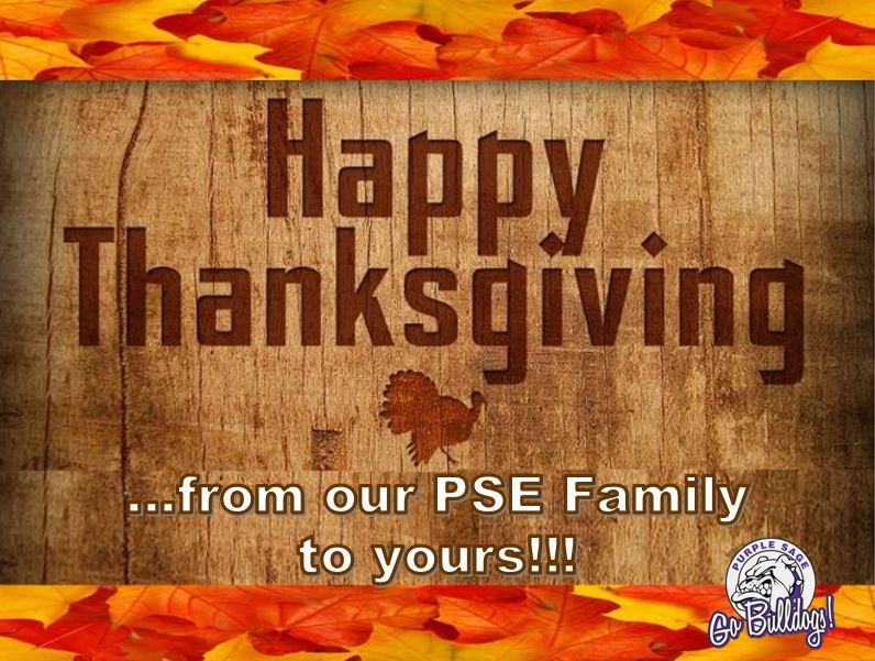 ...from our PSE Family to yours!
