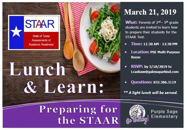 Lunch & Learn: Preparing for the STAAR
