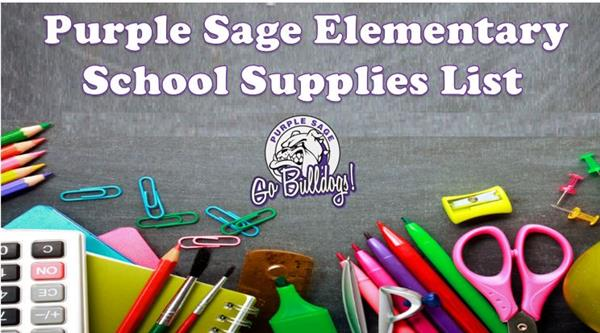 PSE School Supplies List