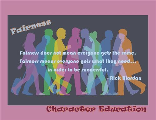 Fairness does not mean everyone gets the same.  Fairness means everyone gets what they need...in order to be successful.  Ric