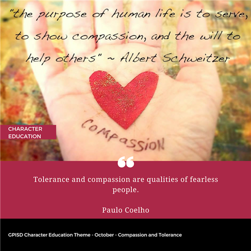 Character Education Compassion and Tolerance Graphic