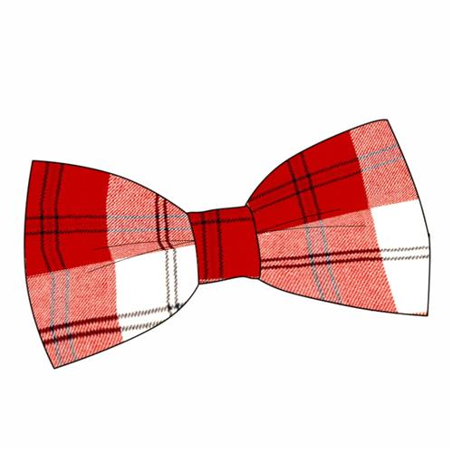 plaid bow tie clipart
