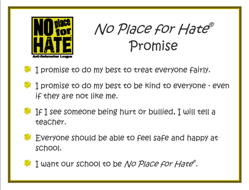 No Place for Hate Promise