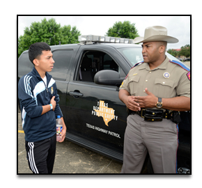 Public Services Student Discussing Law Enforcement